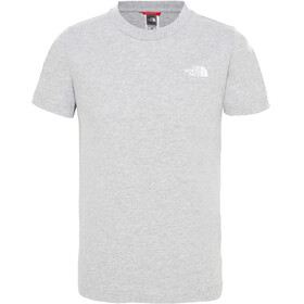 The North Face Simple Dome S/S Tee Boys tnflightgreyhthr/tnfwhite
